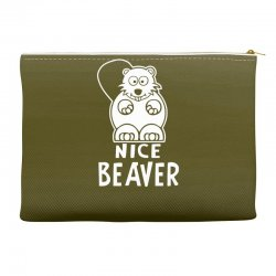 nice beaver Accessory Pouches | Artistshot