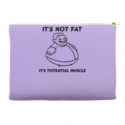 it's not fat, it's potential muscle Accessory Pouches | Artistshot