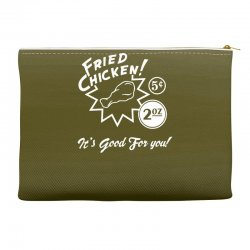 fried chicken it's good for you! Accessory Pouches | Artistshot