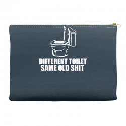 different toilet, same old shit Accessory Pouches | Artistshot