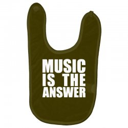 music is the answer printed Baby Bibs | Artistshot