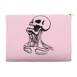 screaming skull Accessory Pouches | Artistshot