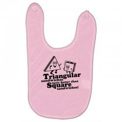 triangular sandwiches Baby Bibs   Artistshot