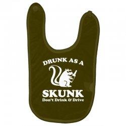 drunk as a skunk Baby Bibs | Artistshot