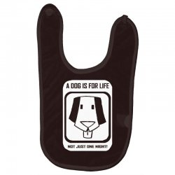 a dog is for life Baby Bibs | Artistshot