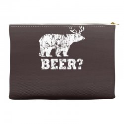 funny beer bear Accessory Pouches | Artistshot