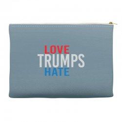 LOVE TRUMPS HATE Accessory Pouches | Artistshot