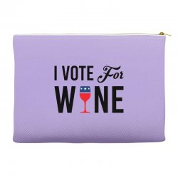 I Vote For Wine Accessory Pouches | Artistshot