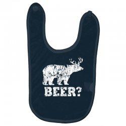 funny beer bear Baby Bibs | Artistshot