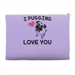 love you  pug Accessory Pouches | Artistshot