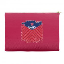 USA Flag Vector Accessory Pouches | Artistshot