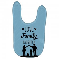 love family laughter Baby Bibs | Artistshot