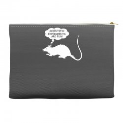 rat funny geek nerd scientific experiments are fun Accessory Pouches | Artistshot
