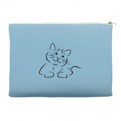 the cat simple Accessory Pouches | Artistshot