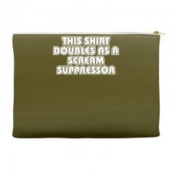 this shirt also doubles as a scream suppressor Accessory Pouches | Artistshot