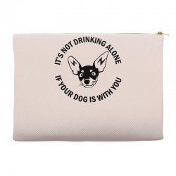 funny drinking dog Accessory Pouches | Artistshot