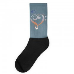 music expresses clef heart girls Socks | Artistshot