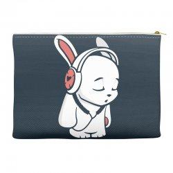 love music cartoon bunny Accessory Pouches | Artistshot