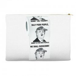 funny donald trump toilet paper Accessory Pouches | Artistshot