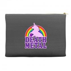 Funny Death Metal Unicorn Rainbow Accessory Pouches | Artistshot