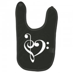 music heart rock baseball Baby Bibs | Artistshot