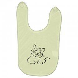 the cat simple Baby Bibs | Artistshot