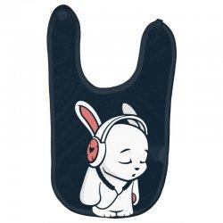 love music cartoon bunny Baby Bibs | Artistshot