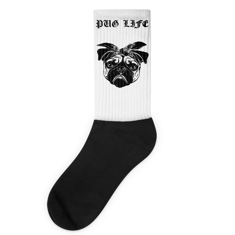 07725e19 Custom Pug Life Socks By Sbm052017 - Artistshot