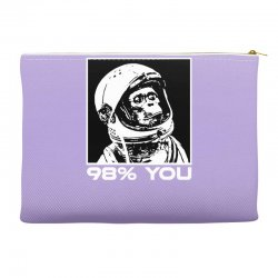 funny monkey astronomy Accessory Pouches | Artistshot