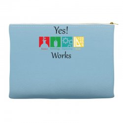 yes work science Accessory Pouches | Artistshot