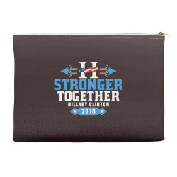 Stronger Together Hillary Clinton Accessory Pouches   Artistshot