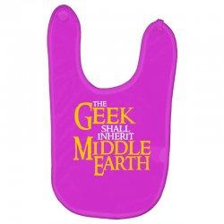 geek shall inherit middle earth Baby Bibs   Artistshot
