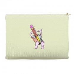Funny cartoon pencil sharpener Accessory Pouches   Artistshot