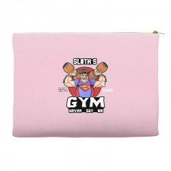 funny gym sloth the goonies fitness t shirt vectorized Accessory Pouches | Artistshot