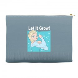 funny gym elsa let it grow frozen fitness Accessory Pouches | Artistshot