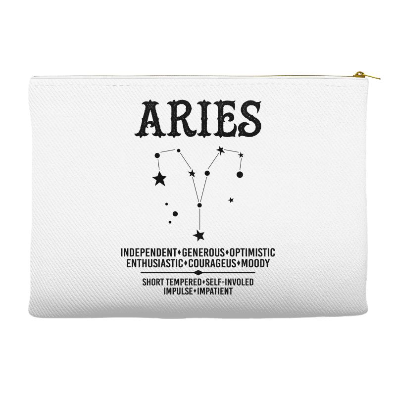 Aries Zodiac Sign Accessory Pouches  By Artistshot
