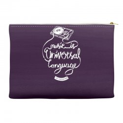 music is the universal language of mankind Accessory Pouches | Artistshot