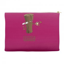 funny morning wood Accessory Pouches | Artistshot