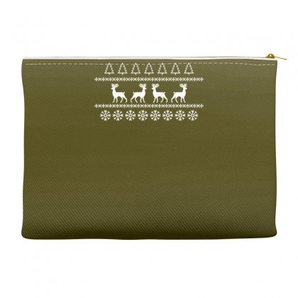 Christmas Jumper Reindeer Accessory Pouches Designed By Gematees