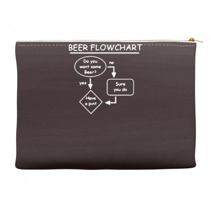 Beer Flowchart Funny Accessory Pouches Designed By Gematees
