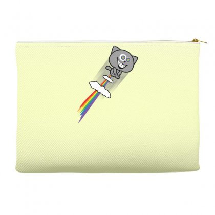 Stoned Cat Rainbow Fart Accessory Pouches Designed By Gematees