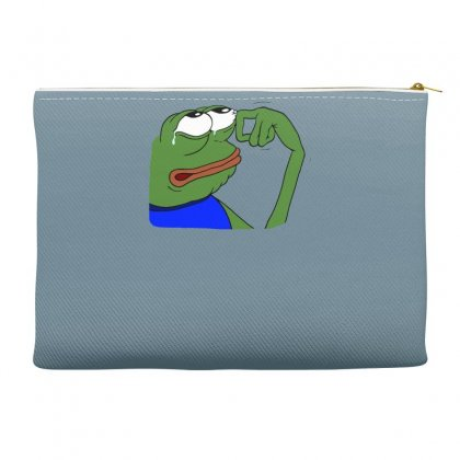 Sad Frog Funny Accessory Pouches Designed By Gematees