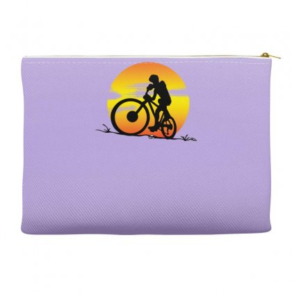 Mountainbike Sunset Accessory Pouches Designed By Gematees