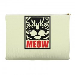 funny cat meow Accessory Pouches | Artistshot
