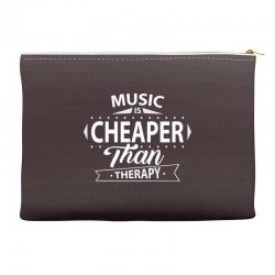 Music Is Cheaper Than Therapy Accessory Pouches | Artistshot