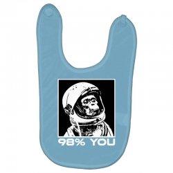 funny monkey astronomy Baby Bibs | Artistshot