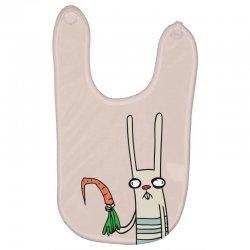 funny rabbit bunny holding a carrot Baby Bibs | Artistshot