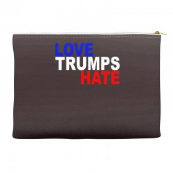 love trumps hate vote for hillary Accessory Pouches | Artistshot