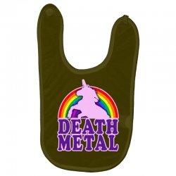 funny death metal unicorn rainbow Baby Bibs | Artistshot