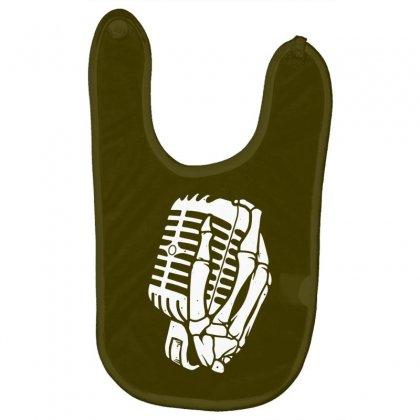 Death Hand Skull Singer Baby Bibs Designed By Tonyhaddearts